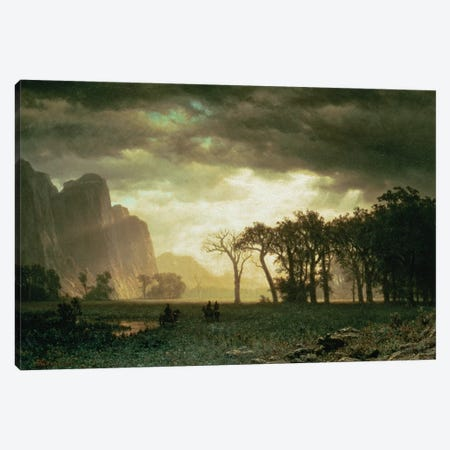 Passing Storm in Yosemite, 1865  Canvas Print #BMN4637} by Albert Bierstadt Canvas Art