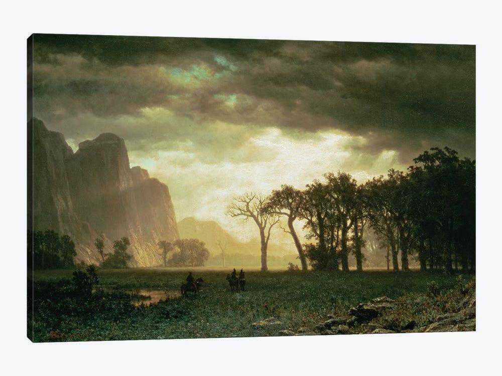 Passing Storm in Yosemite, 1865  by Albert Bierstadt 1-piece Canvas Art Print