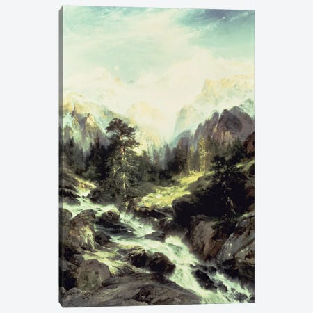 In the Teton Range, 1899  Canvas Print #BMN4638} by Thomas Moran Art Print