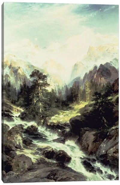 In the Teton Range, 1899  Canvas Art Print