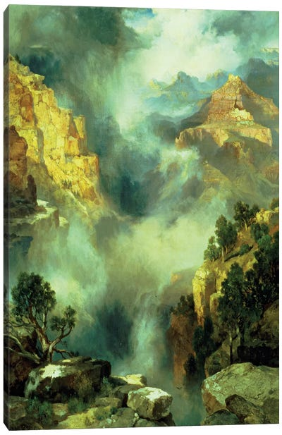 Mist in the Canyon, 1914  Canvas Art Print