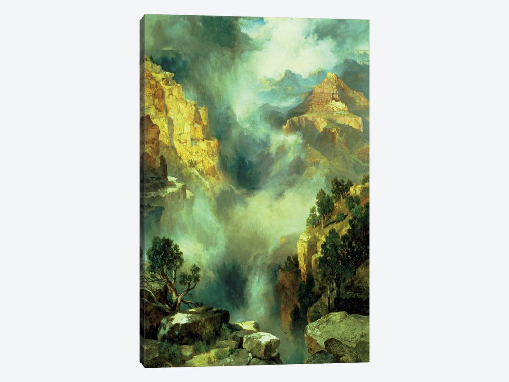 Mist in the Canyon, 1914  by Thomas Moran 1-piece Canvas Art Print