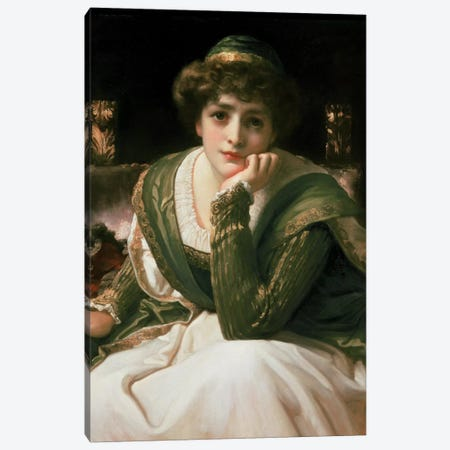Desdemona  Canvas Print #BMN463} by Frederic Leighton Canvas Artwork