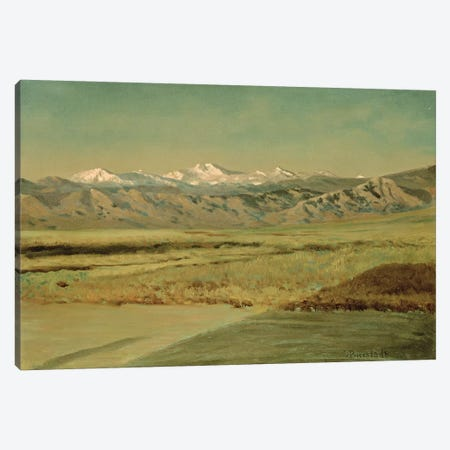 The Grand Tetons, Wyoming  Canvas Print #BMN4640} by Albert Bierstadt Canvas Wall Art