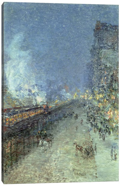 The El, New York, 1894  Canvas Art Print