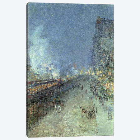 The El, New York, 1894  3-Piece Canvas #BMN4643} by Childe Hassam Canvas Artwork