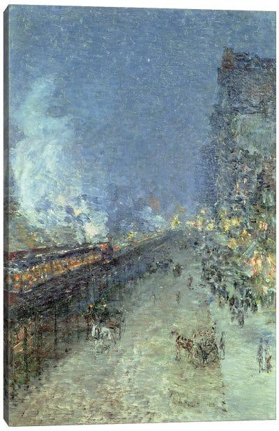 The El, New York, 1894  Canvas Art Print