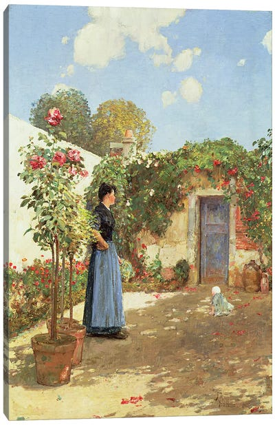 A Sunny Morning, Villiers-le-Bel, 1888  Canvas Art Print