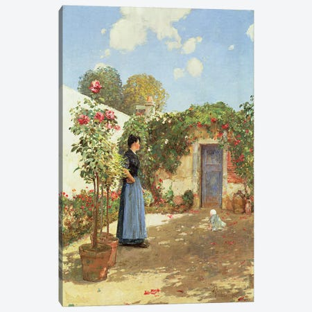 A Sunny Morning, Villiers-le-Bel, 1888  Canvas Print #BMN4645} by Childe Hassam Canvas Print