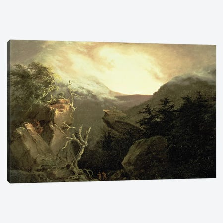 Mountain Sunrise, 1826  Canvas Print #BMN4647} by Thomas Cole Canvas Art Print
