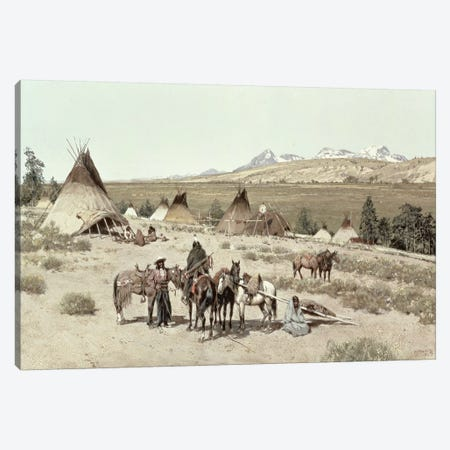 Indian Encampment, 1892  Canvas Print #BMN4648} by Henry Francois Farny Canvas Wall Art