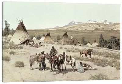 Indian Encampment, 1892  Canvas Art Print
