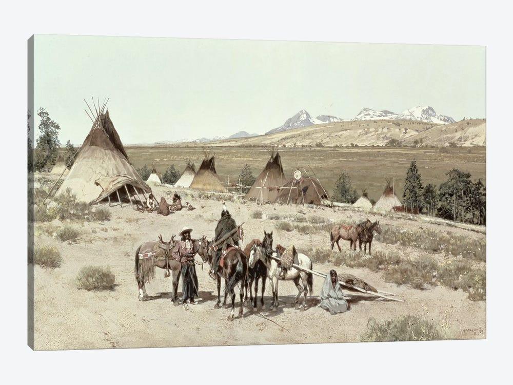 Indian Encampment, 1892  by Henry Francois Farny 1-piece Canvas Art Print