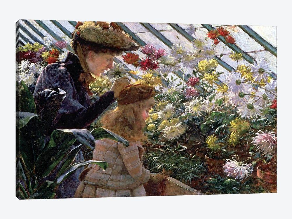 Chrysanthemums, 1890  by Charles Courtney Curran 1-piece Canvas Artwork
