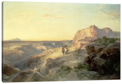 Red Rock Trail, South Utah, 1913 Canvas Art Print