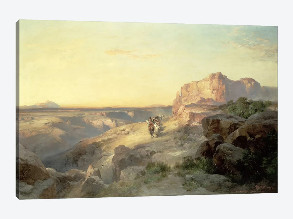 Red Rock Trail, South Utah, 1913  by Thomas Moran 1-piece Canvas Art