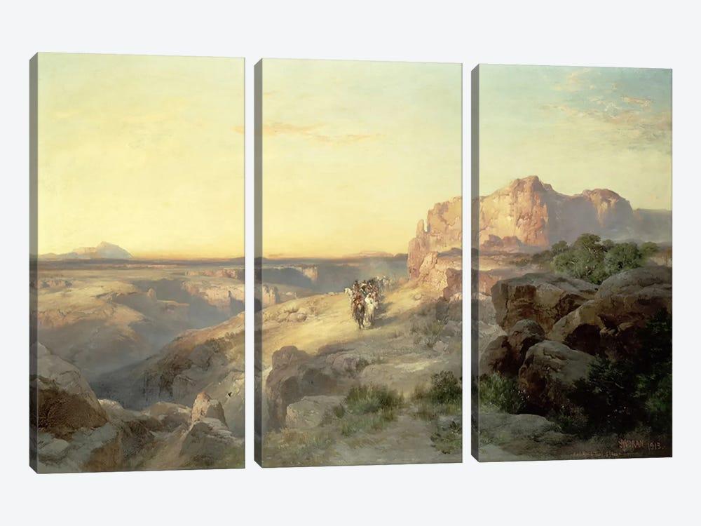 Red Rock Trail, South Utah, 1913  by Thomas Moran 3-piece Canvas Wall Art