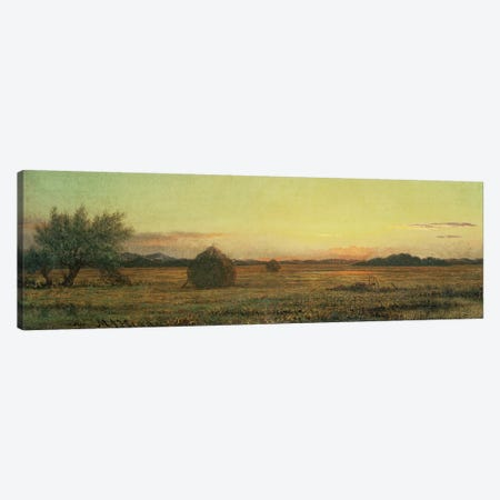 Jersey Meadows  Canvas Print #BMN4651} by Martin Johnson Heade Canvas Art Print