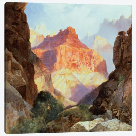 Under the Red Wall, Grand Canyon of Arizona, 1917  Canvas Print #BMN4653} by Thomas Moran Canvas Art Print