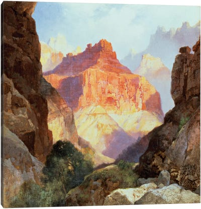 Under the Red Wall, Grand Canyon of Arizona, 1917  Canvas Art Print