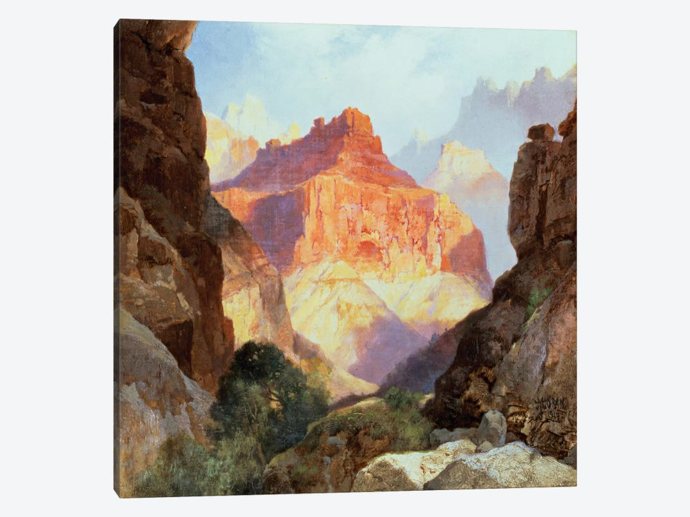 Under the Red Wall, Grand Canyon of Arizona, 1917  by Thomas Moran 1-piece Canvas Art Print