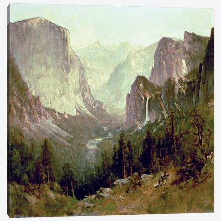 Hunting in Yosemite, 1890  Canvas Print #BMN4655} by Thomas Hill Canvas Wall Art