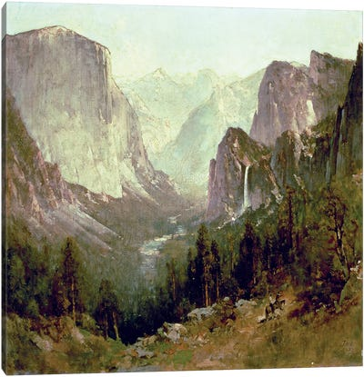 Hunting in Yosemite, 1890  Canvas Art Print
