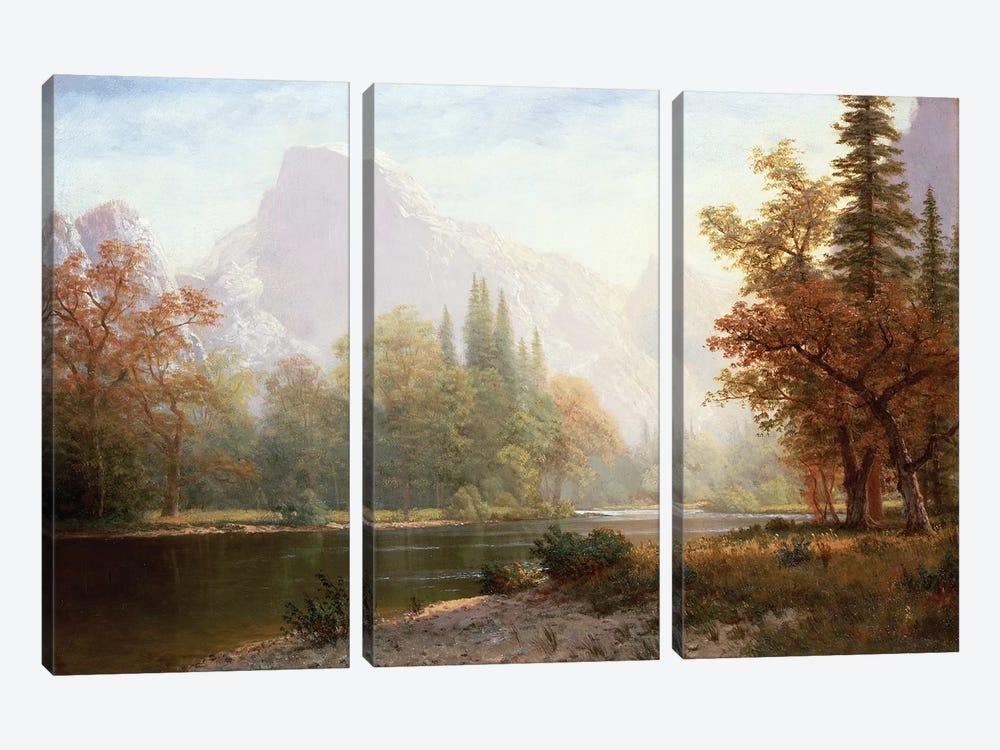 Half Dome, Yosemite  by Albert Bierstadt 3-piece Canvas Art