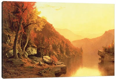 Shawanagunk Mountains, Autumn, 1863  Canvas Art Print