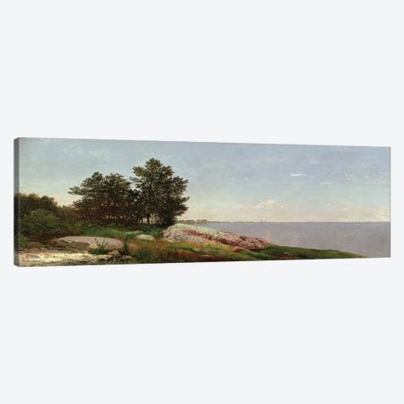 Long Island Sound at Darien  Canvas Print #BMN4660} by John Frederick Kensett Canvas Artwork