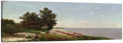 Long Island Sound at Darien  Canvas Art Print