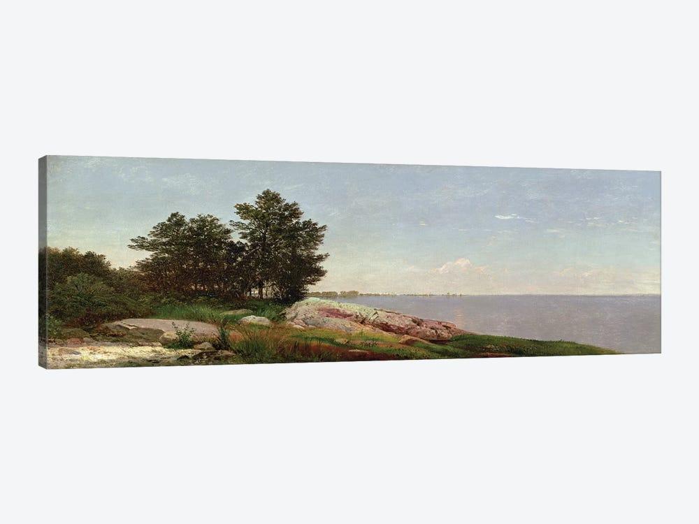 Long Island Sound at Darien  by John Frederick Kensett 1-piece Canvas Art Print