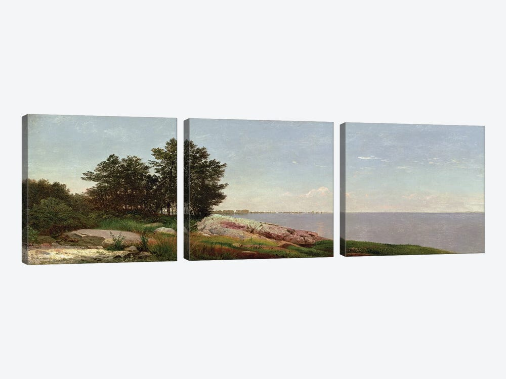 Long Island Sound at Darien  by John Frederick Kensett 3-piece Canvas Print