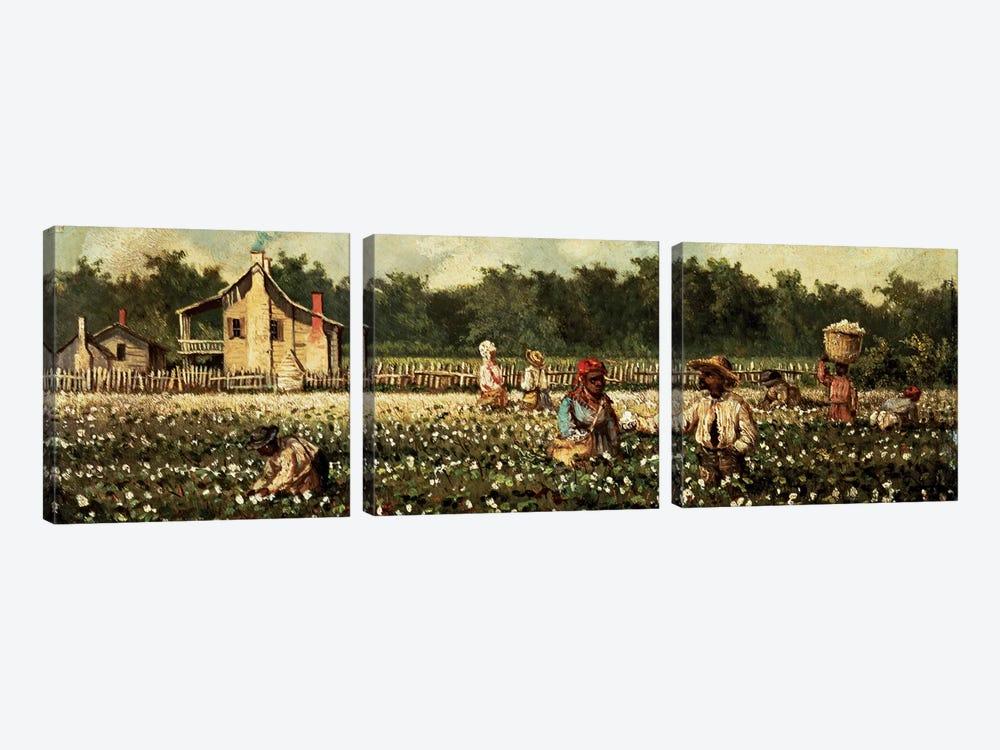 Cotton Field, Mississippi  by William Aiken Walker 3-piece Canvas Artwork