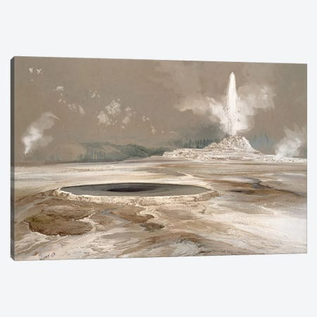 Morning Glory Pool, 1873  Canvas Print #BMN4662} by Thomas Moran Canvas Wall Art