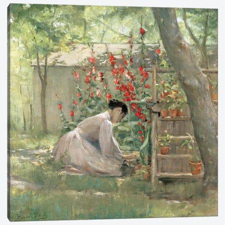 Tending the Garden  Canvas Print #BMN4663} by Robert Reid Canvas Wall Art