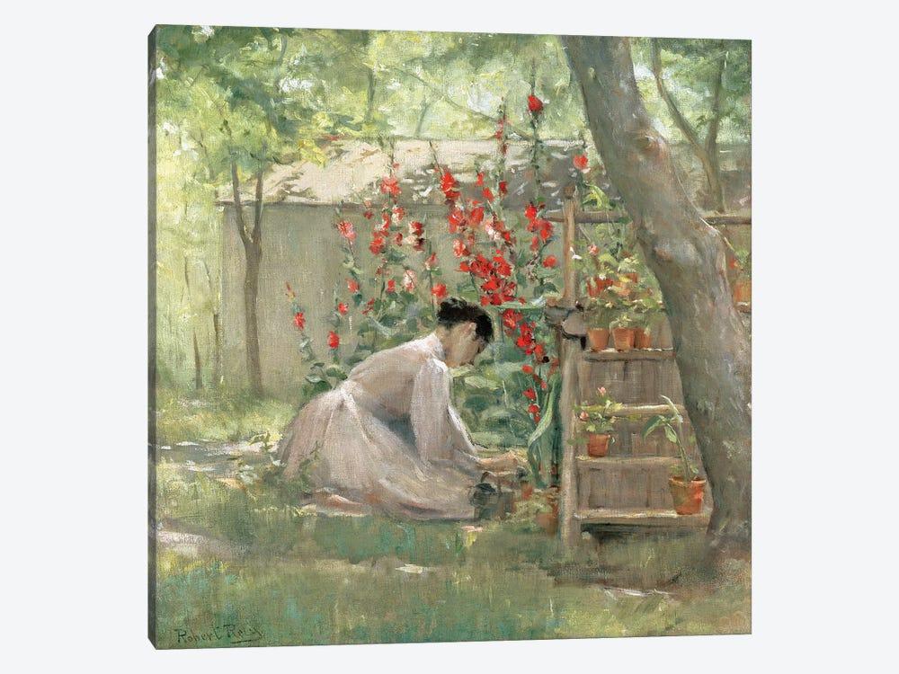 Tending the Garden  by Robert Reid 1-piece Canvas Wall Art