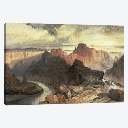 Summer, Amphitheatre, Colorado River, Utah Territory  Canvas Print #BMN4664} by Thomas Moran Art Print