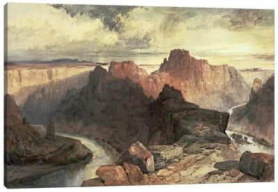 Summer, Amphitheatre, Colorado River, Utah Territory  Canvas Art Print