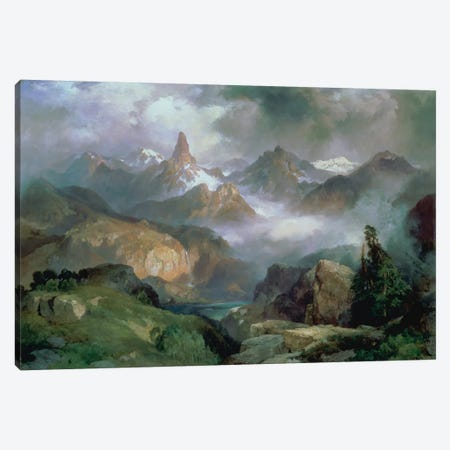 Index Peak, Yellowstone National Park, 1914  Canvas Print #BMN4665} by Thomas Moran Canvas Art Print