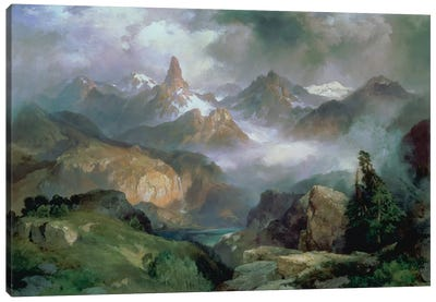 Index Peak, Yellowstone National Park, 1914 Canvas Art Print
