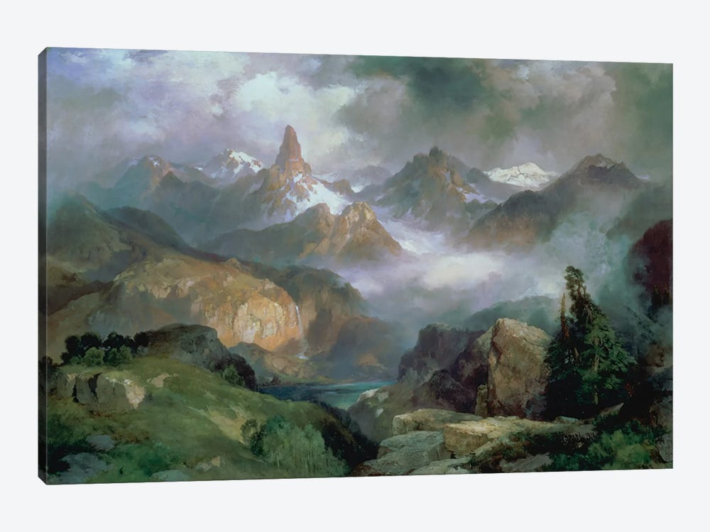 Index Peak, Yellowstone National Park, 1914  by Thomas Moran 1-piece Canvas Artwork