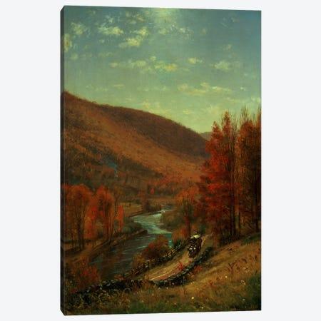 A Road Through Belvedere, Vermont  Canvas Print #BMN4667} by Thomas Worthington Whittredge Canvas Print