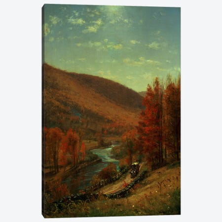 A Road Through Belvedere, Vermont  Canvas Print #BMN4667} by Thomas Worthington Whittredge Canvas Print