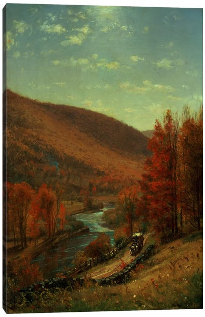 A Road Through Belvedere, Vermont  Canvas Art Print