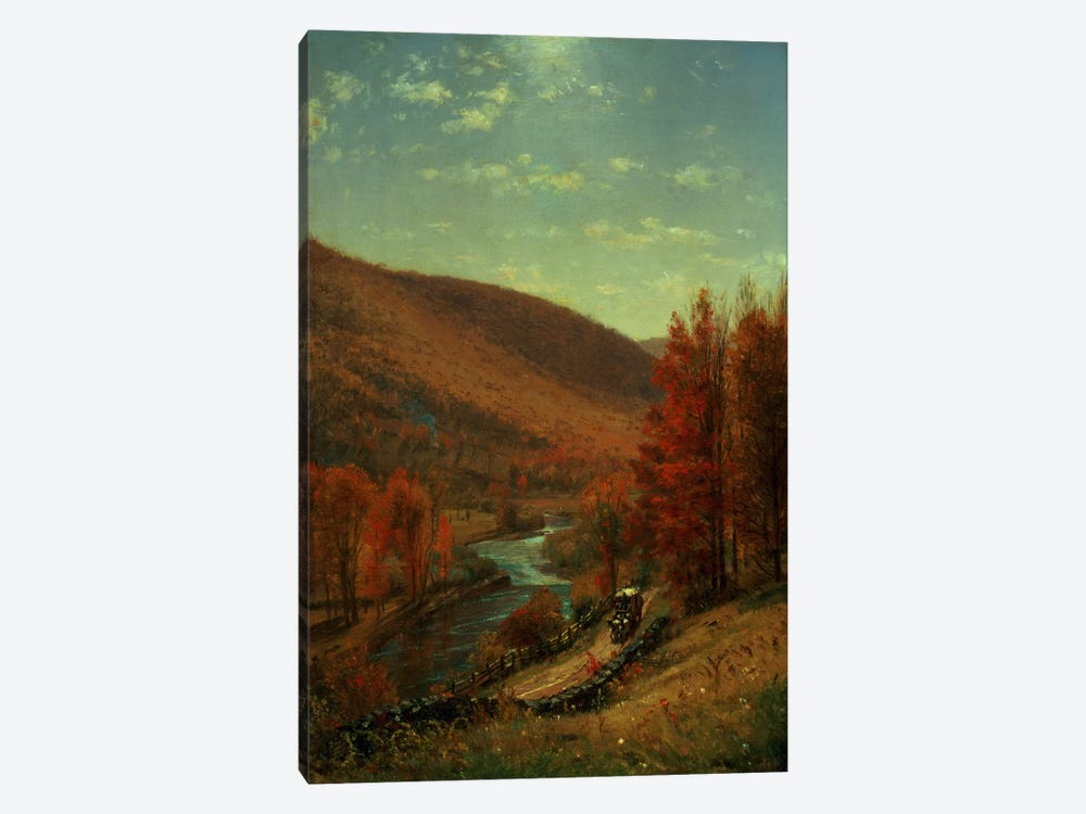 A Road Through Belvedere, Vermont by Thomas Worthington Whittredge 1-piece Canvas Art