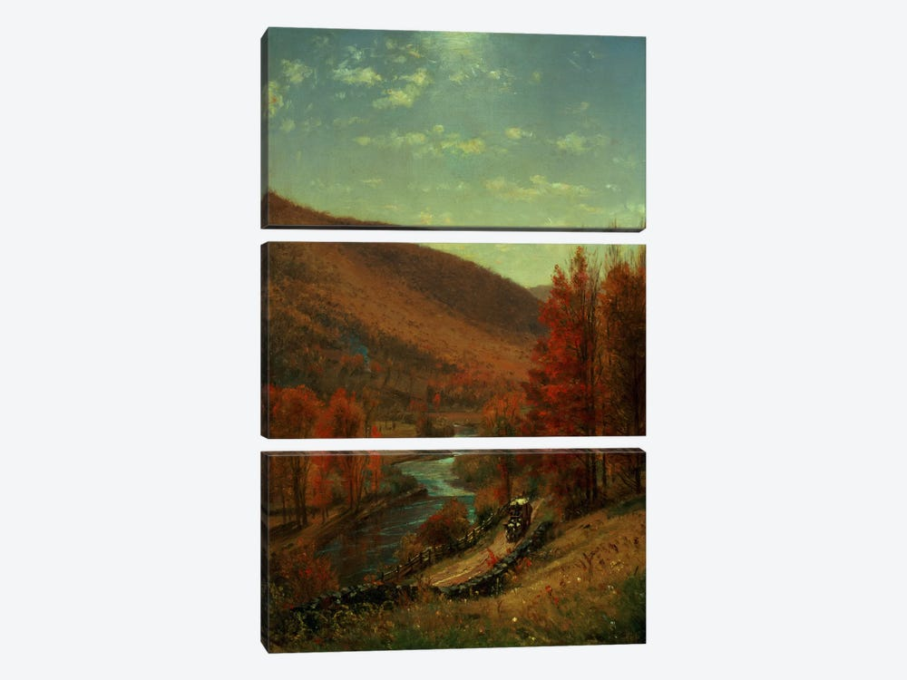 A Road Through Belvedere, Vermont by Thomas Worthington Whittredge 3-piece Canvas Art