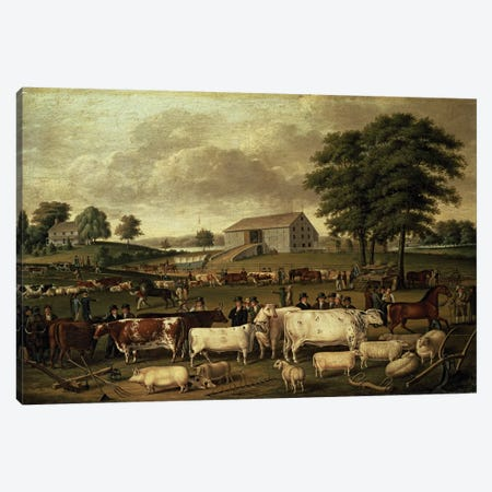 A Pennsylvania Country Fair, 1824  Canvas Print #BMN4669} by John Archibald Woodside Canvas Art