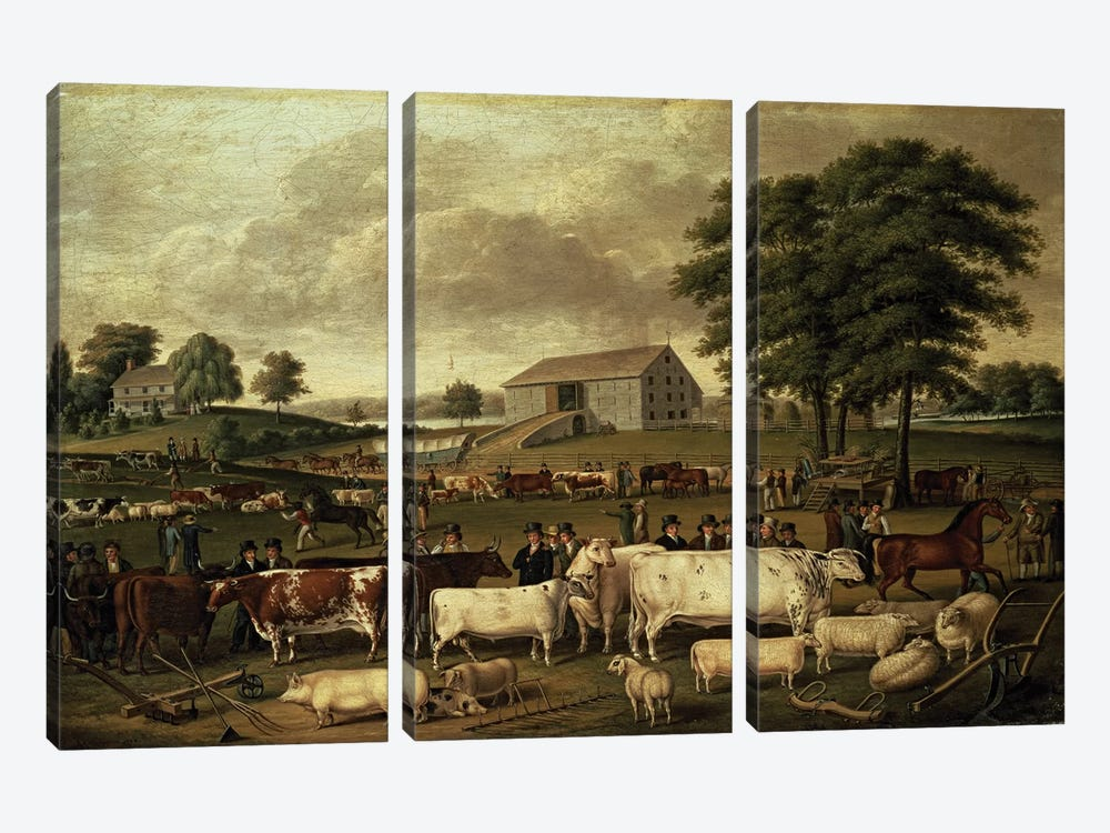 A Pennsylvania Country Fair, 1824  by John Archibald Woodside 3-piece Canvas Artwork
