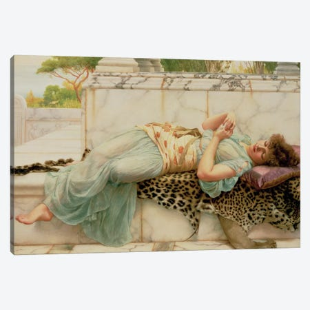 The Betrothed, 1892  Canvas Print #BMN466} by John William Godward Canvas Print